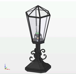 lamp hand forged
