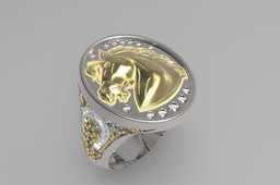 Head Horse Signet Ring
