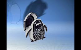 Penguin Pave Pendant Bling Bling