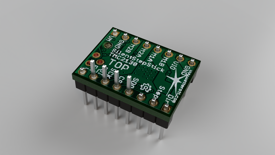 SilentStepStick TMC2130 | 3D CAD Model Library | GrabCAD