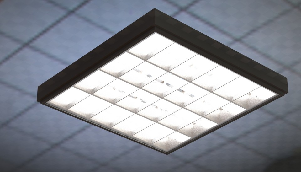 L& for  Armstrong -type suspended ceiling | 3D CAD Model Library | GrabCAD & Lamp for