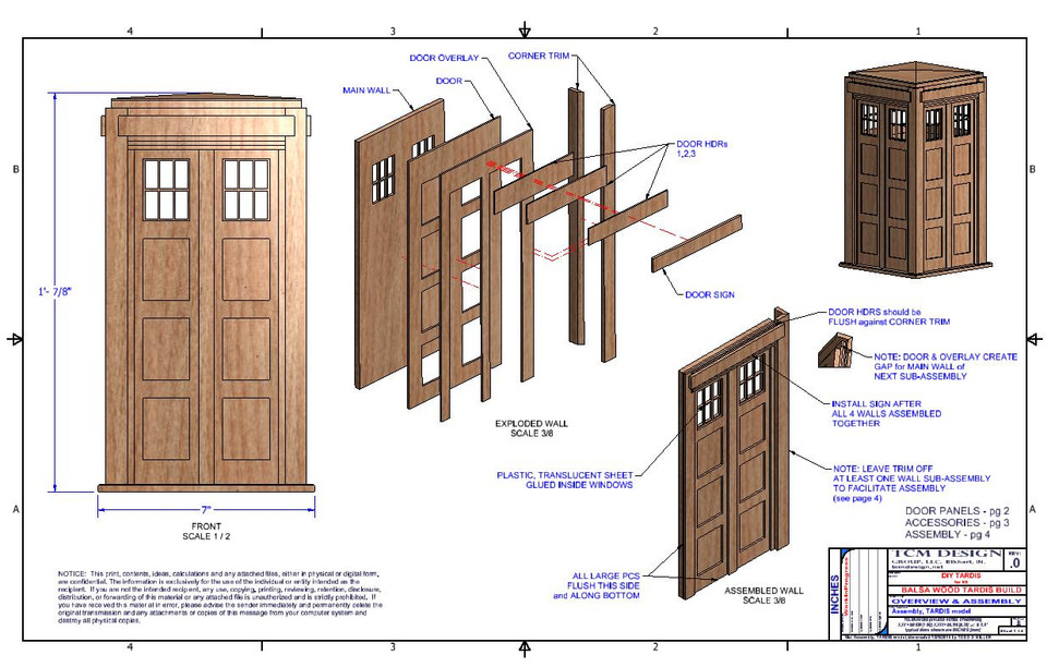 TARDIS BALSA WOOD model | 3D CAD Model Library | GrabCAD