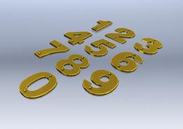 Brass Door Numbers