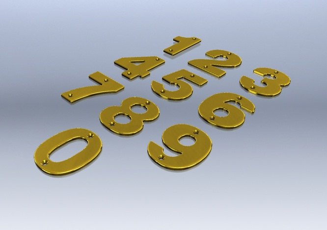 Brass Door Numbers