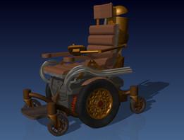 Steampunk Wheelchair design for Kyron