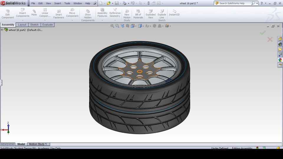 16 Inch Rim With Tyre 3d Cad Model Library Grabcad