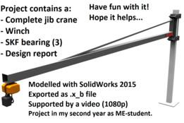 Zwenkkraan 800 kg Avans Hogeschool 2e jaars WTB - Jib crane (800 kg)