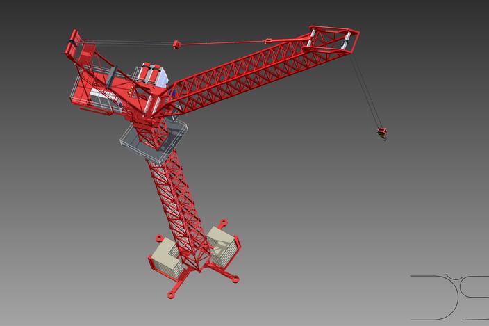 Tower Crane Inventor : Crane tower inventor  d cad model grabcad