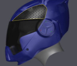 Helmet Plastic Cover - Fill Pattern in Random Surface Technique