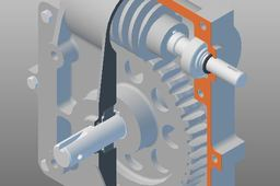 Complete Worm Gear Assembly