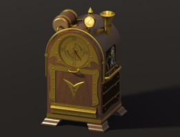 Steampunk Clock Puzzle Box w/Compass