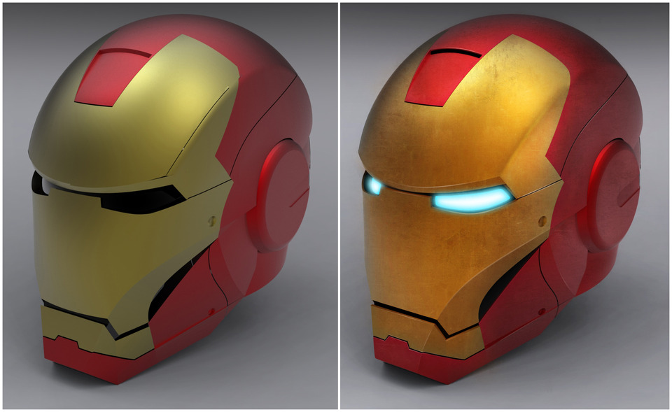 Iron Man Helmet | 3D CAD Model Library | GrabCAD