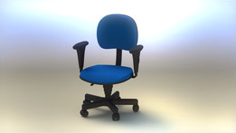 Blue Office Armchair