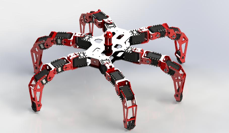 Hexapod | 3D CAD Model Library | GrabCAD