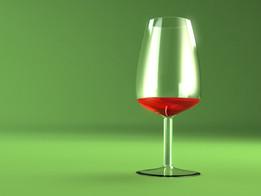 wine testing glass