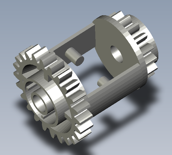 Lego Compatible Differential   3D CAD Model Library   GrabCAD
