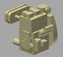 Diesel engine KAMA KM 290 F - 3D model