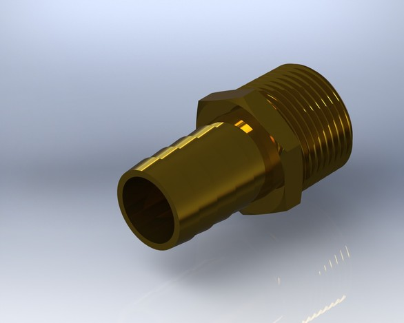 "3/4"" Barb x MPT Brass Adapter"