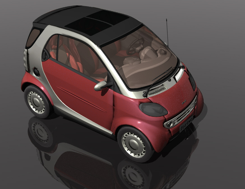 Smart fortwo 3d cad model library grabcad malvernweather Image collections