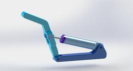 Sample crane +hyrualic cylinder