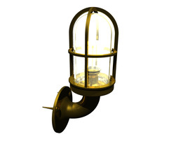 Old ship lamp with dome