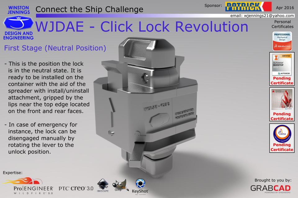 WJDAE - Click Lock Revolution | 3D CAD Model Library | GrabCAD