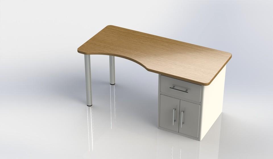 Charmant Computer Desk | 3D CAD Model Library | GrabCAD