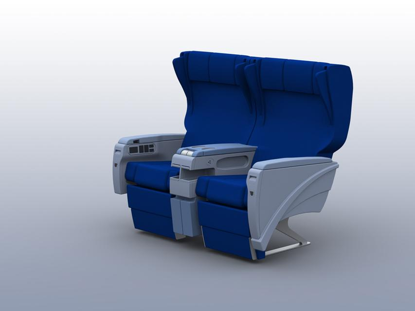Airline business class seat | 3D CAD Model Library | GrabCAD