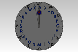 Letter Time Clock - globally the same for everyone