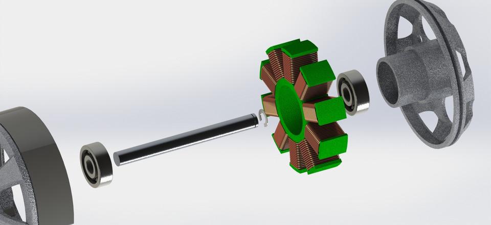 Brushless DC motor | 3D CAD Model Library | GrabCAD