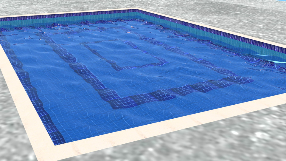 skimmer type swimming pool | 3D CAD Model Library | GrabCAD