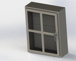 "Windowed Electrical Cabinet 30"" x 24"""