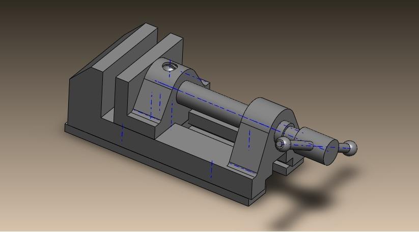 Bench Vice Solidworks Step Iges Stl 3d Cad Model