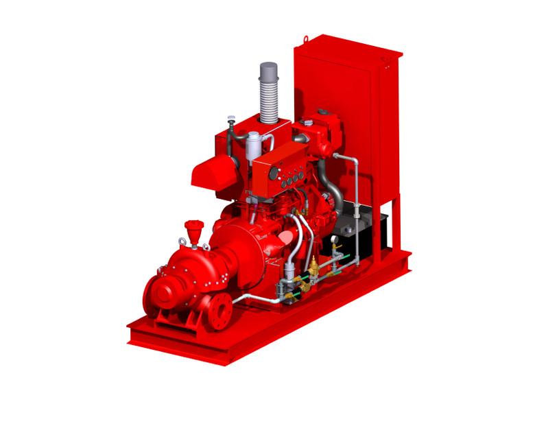 Firefighting Diesel Pump | 3D CAD Model Library | GrabCAD