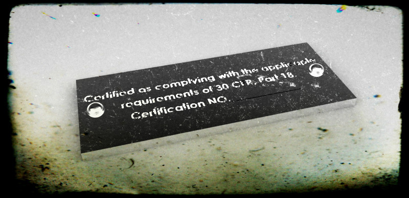 Explosion Proof Certification Tag | 3D CAD Model Library