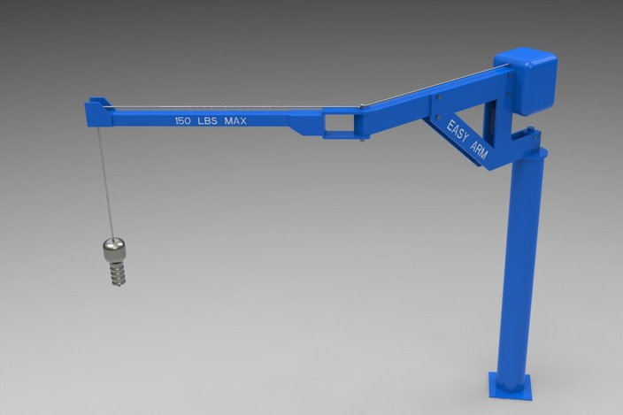 Easy Lift Assist Arm : Gorbel easy arm pedestal lift free standing step iges
