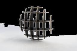 Spherical wall shelf made of DendroLight panels