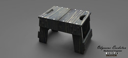 Wooden Footstool