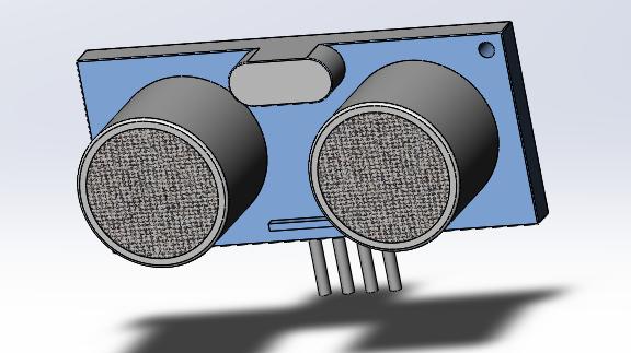HC SR04 ultrasonic sensor   3D CAD Model Library   GrabCAD