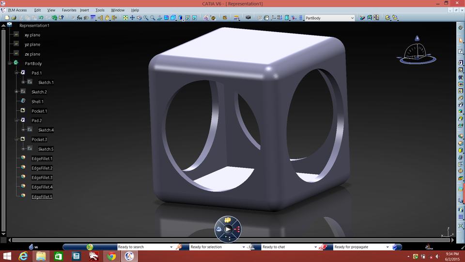 Unibody CubeSat | 3D CAD Model Library | GrabCAD