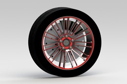 Rim with Tire and Basic Brake