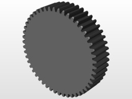 gear whell spur toothed