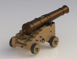 Cannon British Naval 32lb circa 1790