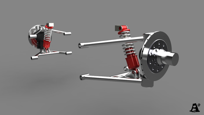 "Ferrari 156 F1""sharknose"" part3_front shocks"