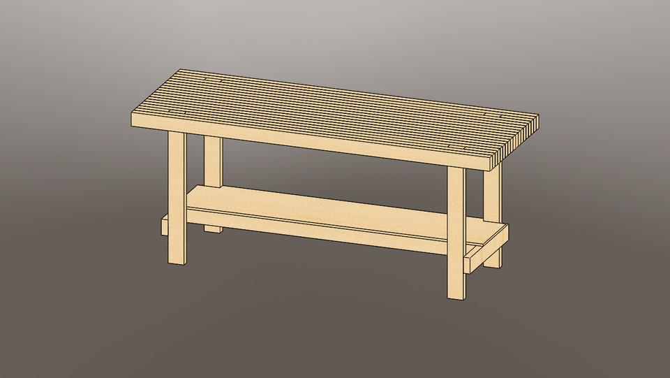 Phenomenal Big Reloading Bench 3D Cad Model Library Grabcad Short Links Chair Design For Home Short Linksinfo