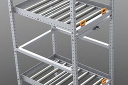 Conveyor storage rack light duty aluminum 80/20