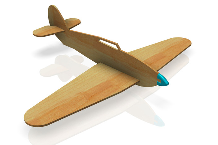 Balsa Wood Toy Plane Autodesk Inventor 3d Cad Model
