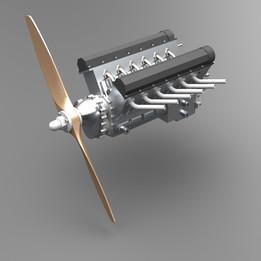 Merlin V-12 engine