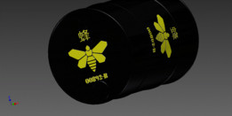 Yellow Bee Methylamine Barrel