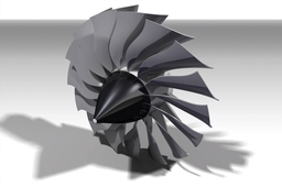High Bypass Turbofan Front fan (~4:1 ratio)